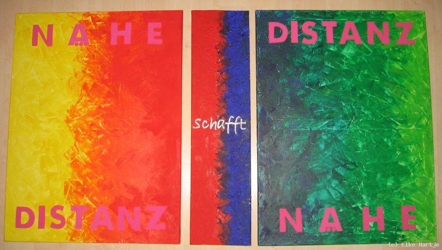 Nähe schafft Distanz - Triptychon von Elke Hartje at