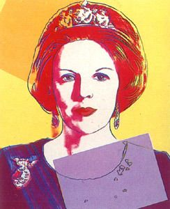 Queen Beatrix Of The Netherlands Von Andy Warhol At Artists24 Net