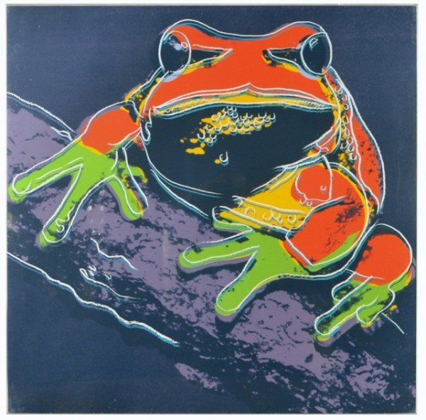Pine Barrens Tree Frog Von Andy Warhol At Artists24 Net Kunstler