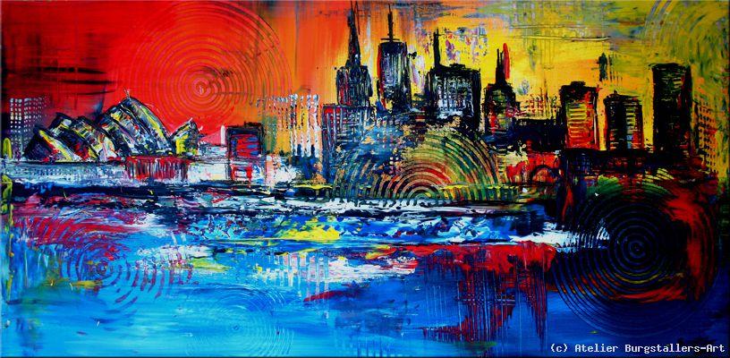 Sydney Moderne Kunst Malerei Original Gemaelde Von Atelier