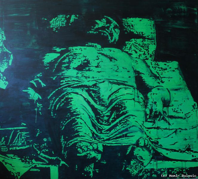 dead christ after mantegna von momir bulovic at artists24