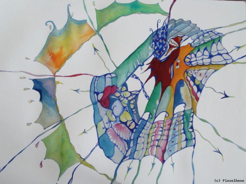 abstraktes spinnennetz von pinselhexe at k nstler kunst und kunstwerke. Black Bedroom Furniture Sets. Home Design Ideas