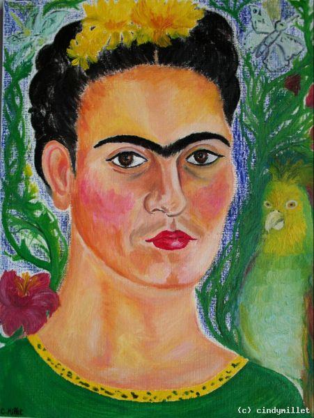 portrait of frida kahlo zapotec icon von cindymillet at k nstler kunst und. Black Bedroom Furniture Sets. Home Design Ideas