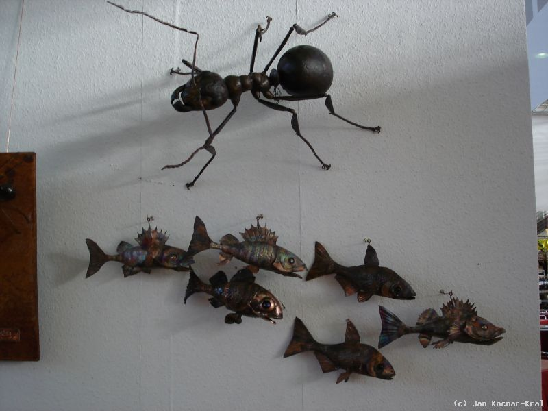 fischschwarm an der wand von jan kocnar kral smetana at k nstler kunst und. Black Bedroom Furniture Sets. Home Design Ideas