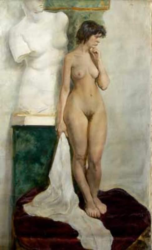 Naked venus art print by annsp
