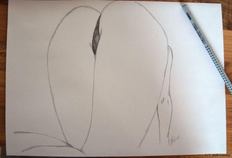 Po von Hinten von andreamaus at artists24.net - Künstler
