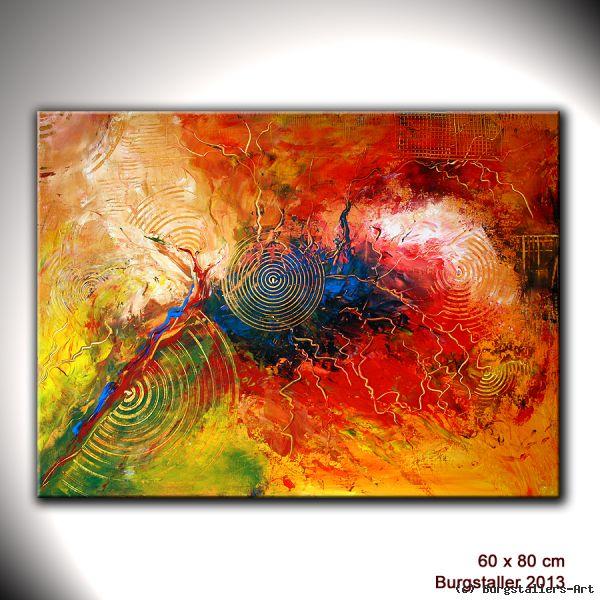 gewitter  abstrakte malerei acryl gemälde kunst von